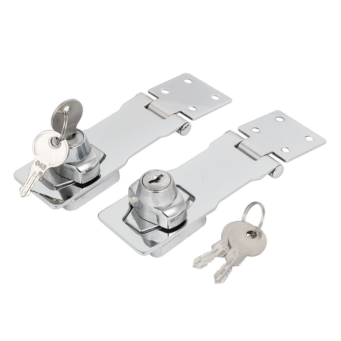 uxcell 144mmx40mmx33mm Metal Screw Fixed Safety Guard Keyed Hasp Latches Locks 2pcs