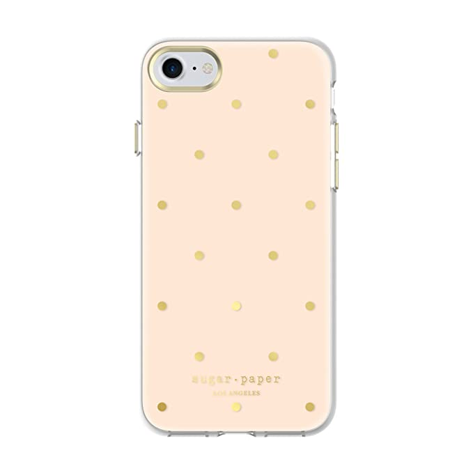 new concept 5e7f0 9b6f0 Sugar Paper iPhone 7 Case, Printed Case [Shock Absorbing] Cover fits Apple  iPhone 7 - Small Dot Clear/Ballet Slipper/Gold