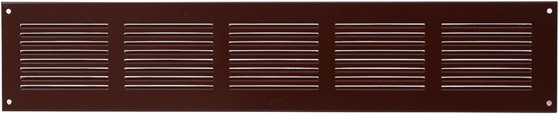 500x100mm Marron grille de ventilation murale en m/étal entr/ée et sortie d/'air Protection anti-insectes