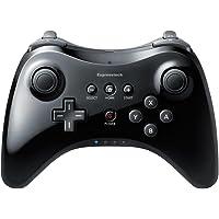 Expresstech Classic Pro Controller Console Gampad Wireless Bluetooth Remote Joypad for Nintendo Wii U, Black