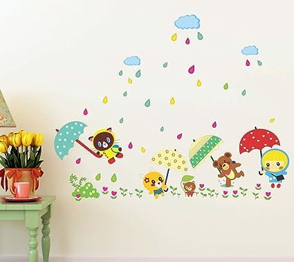 buy decals design cartoon monsoon in a kindergarten wall sticker