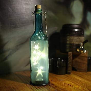 home wine room lighting effect. AceLife Blue Wine Bottle Light LED Starry String Lights Kit (Glass \u0026 Cork Home Room Lighting Effect