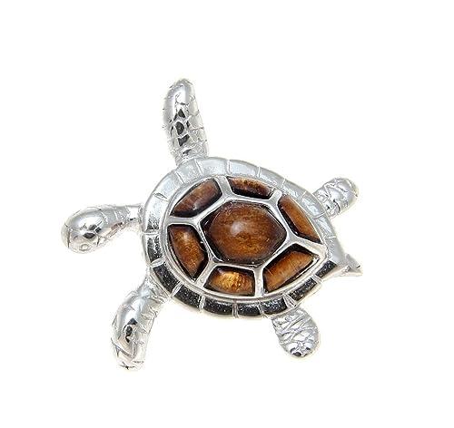 NEW 14k Sea Turtle Hawaiian Hono Pendant Solid Yellow Gold with Opal Inlay