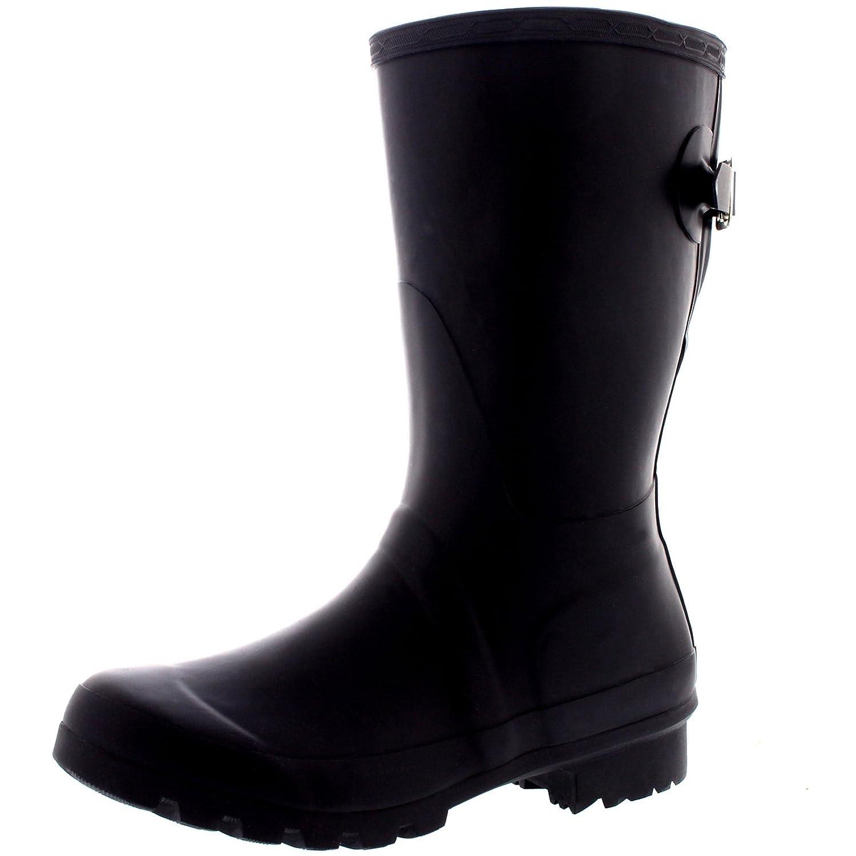Amazon.com | Womens Original Adjustable Back Short Wellington Rain Snow Festival Boot | Mid-Calf