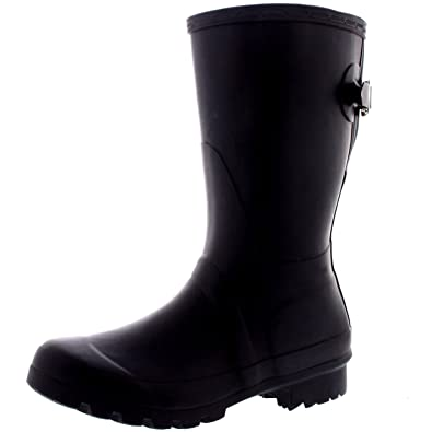 Womens Original Adjustable Back Short Wellington Rain Snow Festival Boot