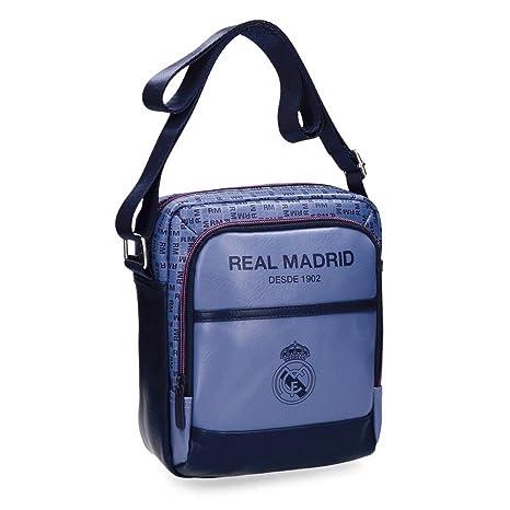 5b616d229 Real Madrid Blue RM Bolso Bandolera, 22 cm, 3.83 litros, Morado ...