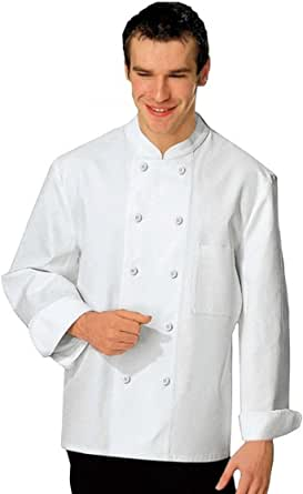 Bragard Marcolon Chef Jacket for Men White | Long Sleeve Chef Jacket Perfect for Kitchen (56)