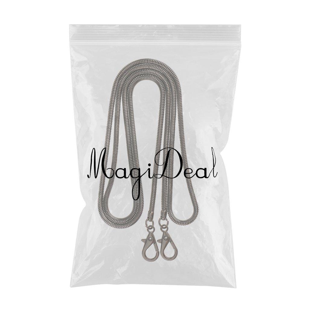MagiDeal Black Metal Shoulder Bag Chain Handbag Strap Handle Replacement for Purse Making 120cm