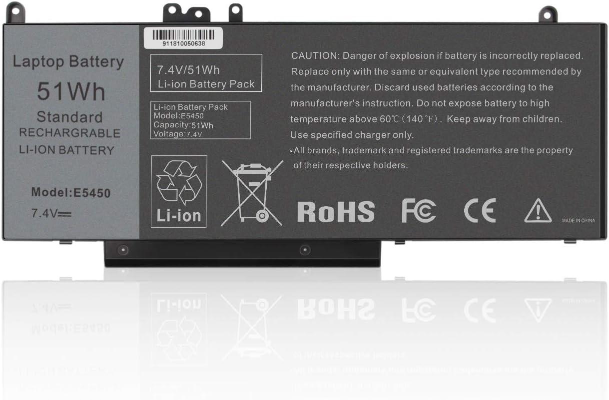 """7.4V 51WH Latitude E5450 Laptop Battery for DELL Latitude E5450 E5550 Notebook 15.6"""" G5M10 8V5GX R9XM9 WYJC2 1KY05 G5M10"""