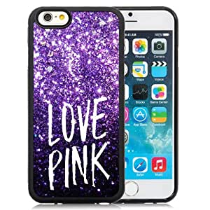 Hot Sale iPhone 6 4.7 Inch TPU Case ,Unique And Lovely Designed With Victoria's Secret Love Pink 70 in Black iPhone 6 Cover