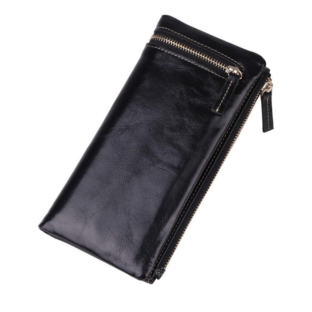 4 Soft Women's Leather Wallets RFID Blocking Vintage Design Large Capacity Handbag (color    1)