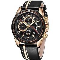 Reloj de cuarzo analógico para hombre, diseño simple y minimalista, resistente al agua