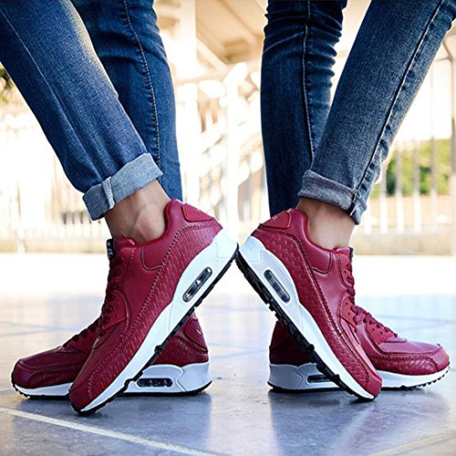 Women's 44 Paragraph Women Same New Spring GAOLIXIA Comfortable Retro 36 Casual Shoes Shoes Black Red Running Sports White Red Men Shoes The with Sneakers and Couple Outdoor dRqaxa4wC