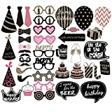 Ranpower Photo Booth Props 47 Pieces Birthday Party Photography Props Party Favor