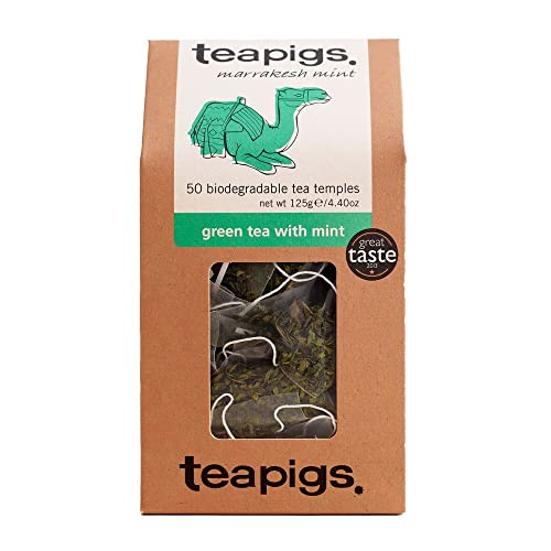 teapigs Green with Mint Tea Temples,50-Count