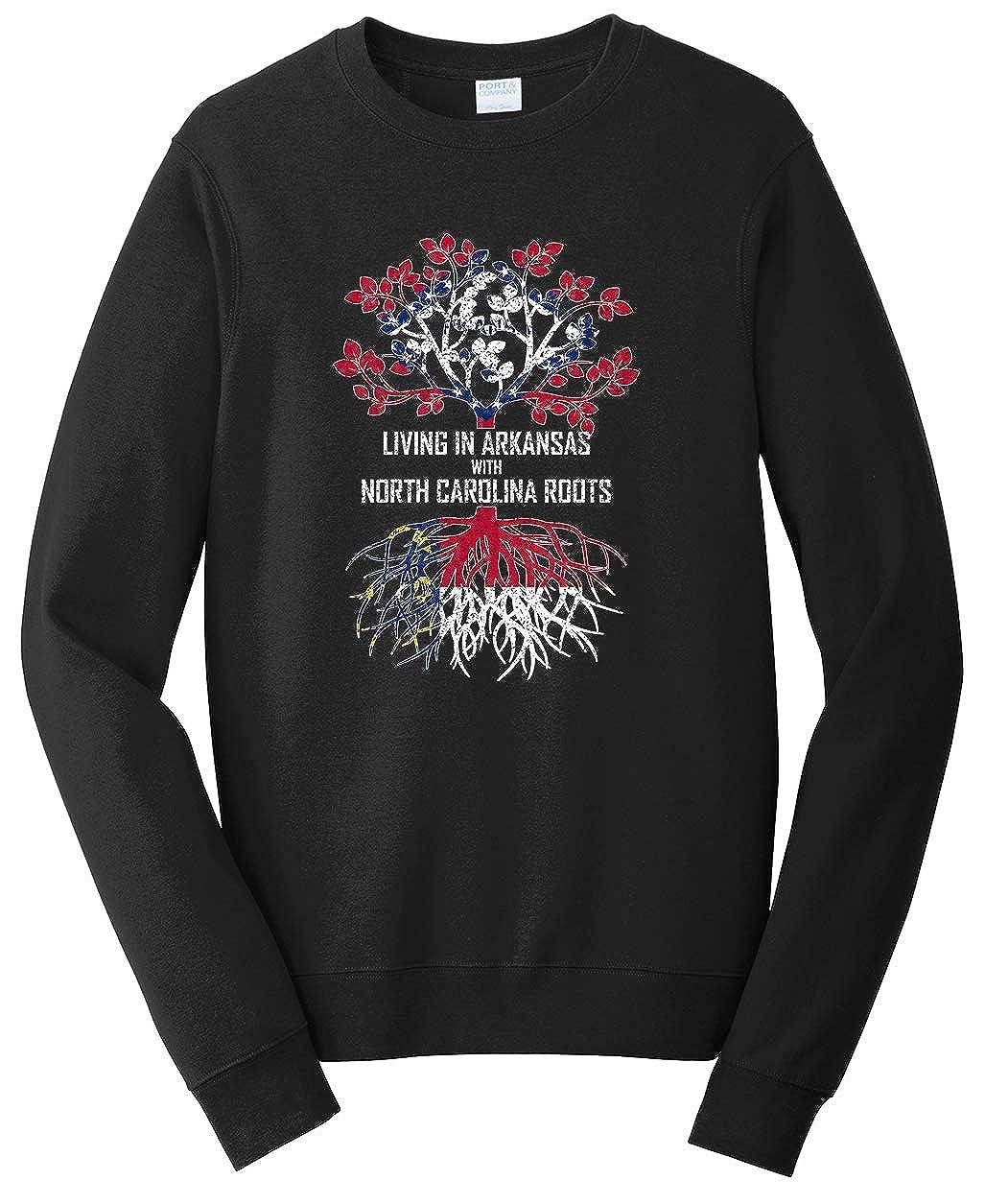 Tenacitee Unisex Living in Arkansas North Carolina Roots Sweatshirt
