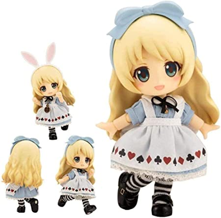 brandless Cute Alice Action Anime Model Figures Q Version Clay PVC (10cm en Caja) Escultura de Dibujos Animados Decoración del hogar Baiyujing: Amazon.es: Hogar