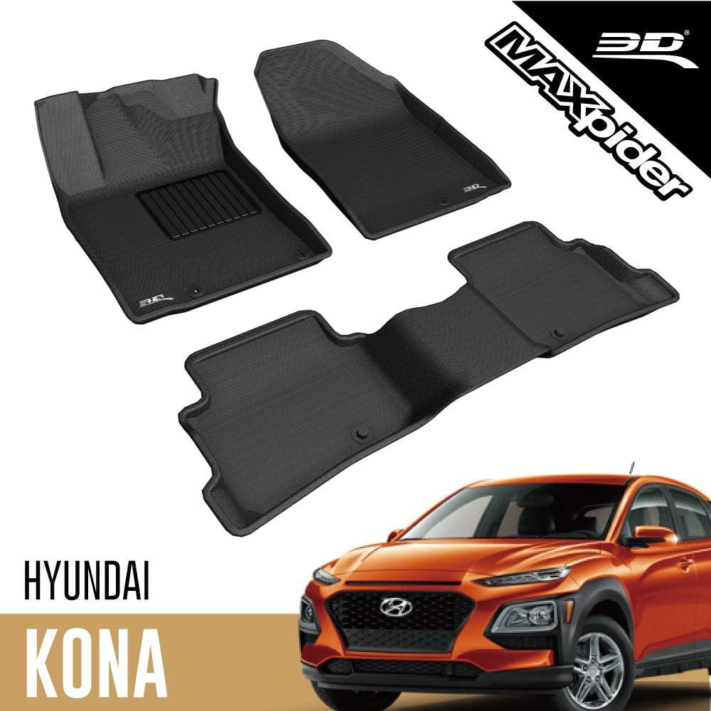 Tapis de Coffre Bac de Protection Antiderapant en Caoutchouc sur Mesure Hyundai Kona 2017-2020