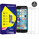 iPhone 7 Plus Screen Protector, 3 PACK Yoyamo Tempered Glass Screen Protector For iPhone 7 Plus[3D Touch Compatible] 0.26mm Screen Protection Case Fit 99% Touch Accurate