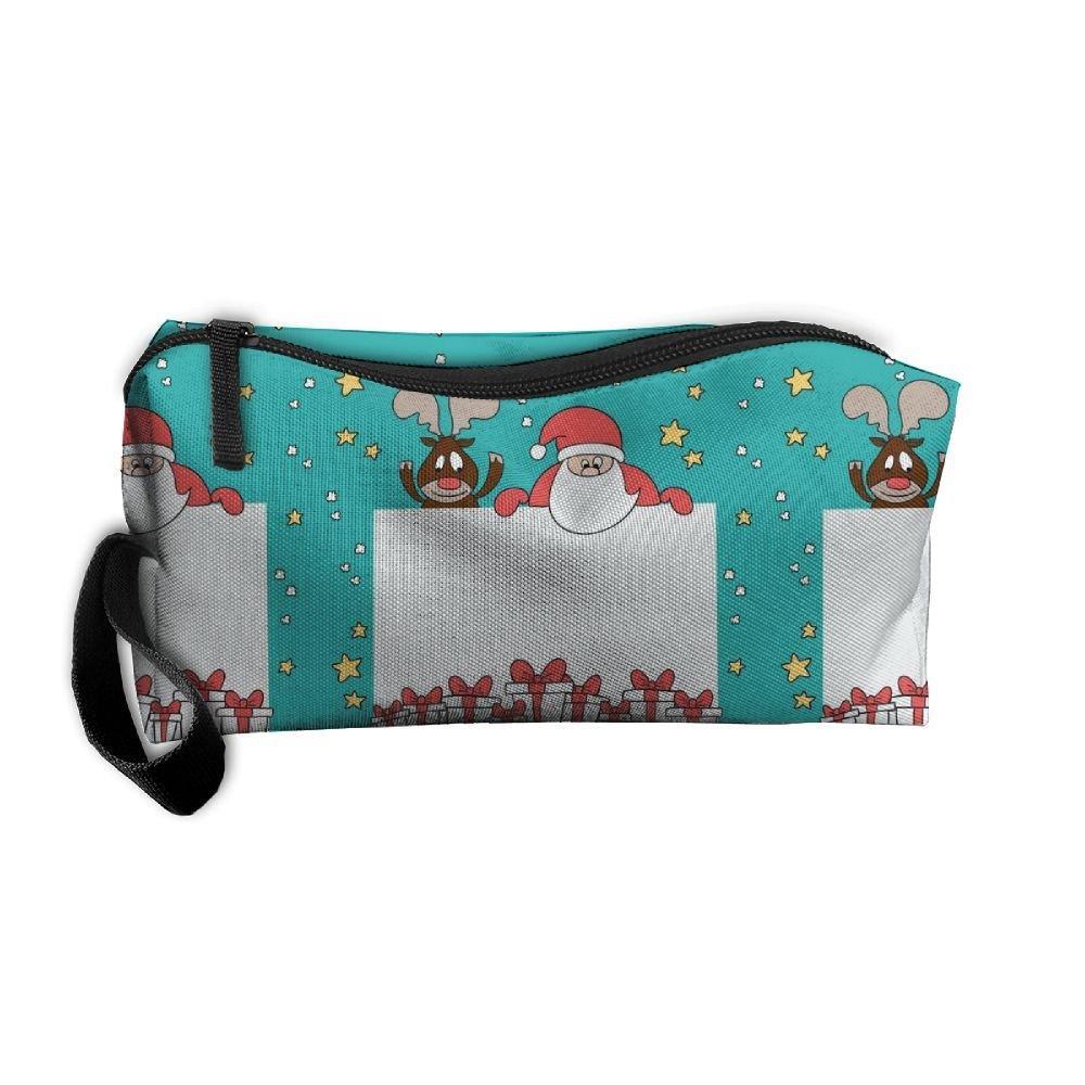 Cartoon Merry Christmas Pattern Makeup Bag Printing Girl Women Travel  Portable Cosmetic Bag Sewing Kit Stationery 402c8b6771f82