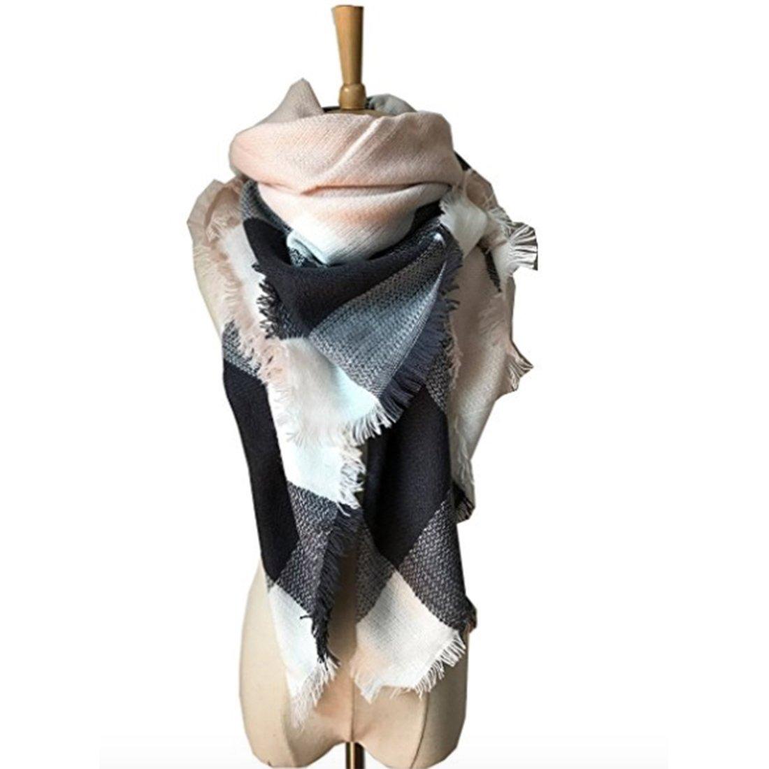 Women's Cozy Tartan Scarf Wrap Shawl Neck Stole Warm Plaid Checked Pashmina SNL-170905016-1