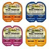 Nutro Wild Frontier Grain Free Pate Cat Food 4 Flavor 8 Can Variety Bundle, (2) each: Chicken, Salmon Trout, Turkey, Turkey Duck (2.64 Ounces)
