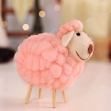 JEWH Innovative Wool Felt Cute Sheep Shape - Childrens Room Decoration Ornament - Soft Toys Dolls