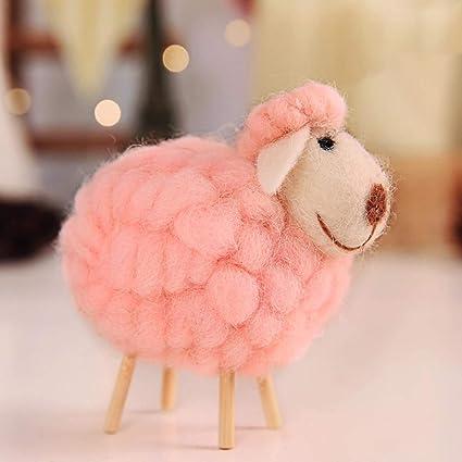 JEWH Innovative Wool Felt Cute Sheep Shape - Childrens Room Decoration Ornament - Soft Toys Dolls