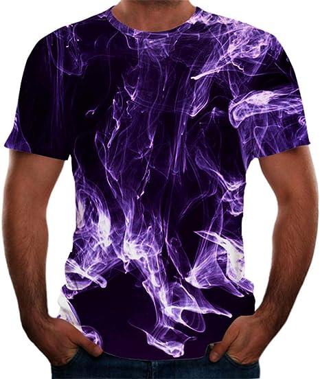 ZIXIYAWEI 3D Camisetas para Hombre Camiseta con Estampado Abstracto Púrpura Hombres Camiseta De Manga Corta Hombres Divertido Harajuku Slim Fit Camisetas Hip Hop Streetwear Camiseta Homme: Amazon.es: Deportes y aire libre