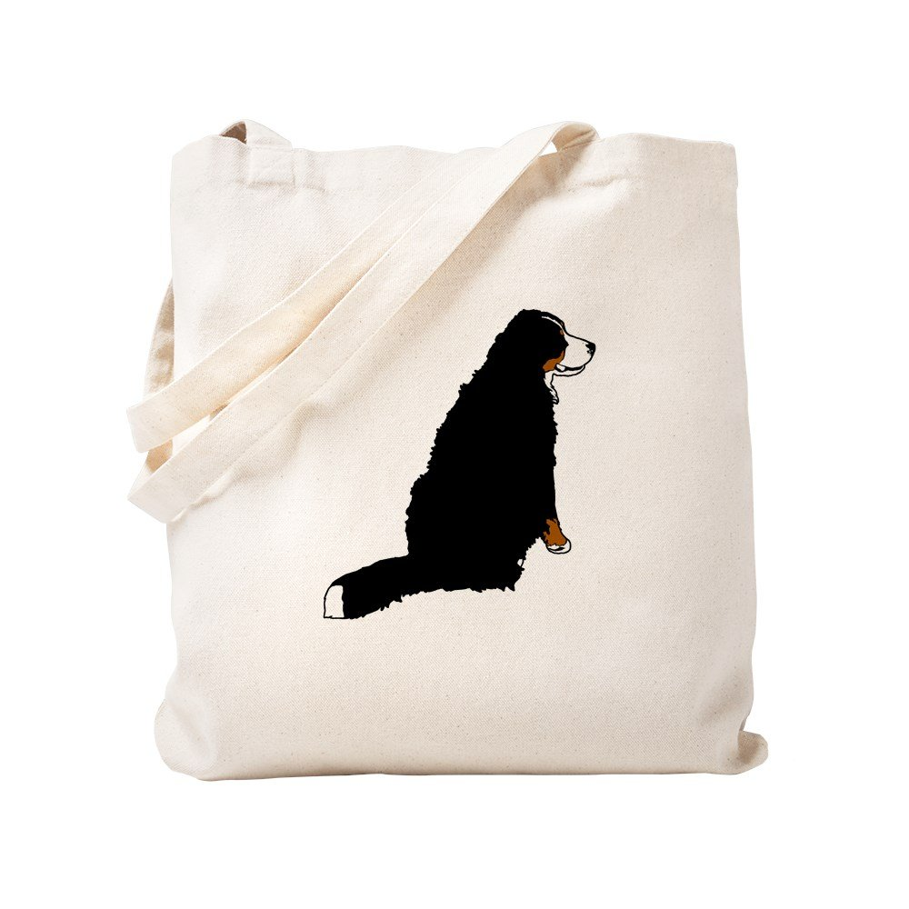 CafePress – Sitting Bernese Mountain Dog – ナチュラルキャンバストートバッグ、布ショッピングバッグ S ベージュ 0500377914DECC2 B0773TP2V4  S