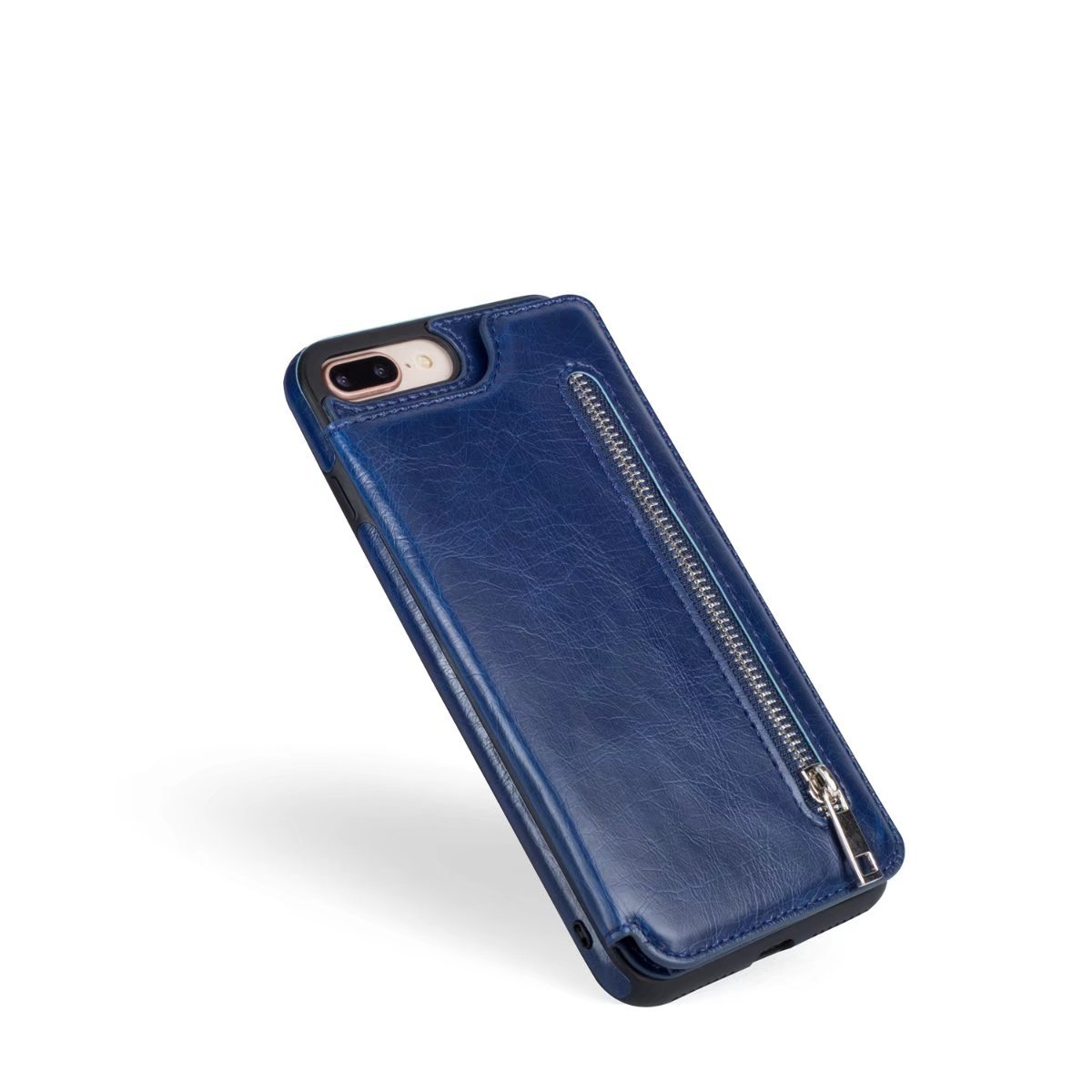 Abtory iPhone 8 Plus Case, Wallet Case with Credit Card Holder Slim Leather Shockproof Protective Hybrid Case with Stand Phone Case for iPhone 7 Plus/iPhone 8 Plus Blue by Abtory (Image #4)