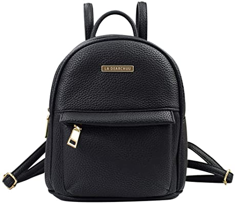 Quilted Faux Leather Small Mini Backpack Rucksack Daypack Travel Bag Purse Cute
