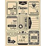 Florilèges Design FH113050 Tampon Scrapbooking Neuf Etiquettes Beige 13 x 10 x 2,5 cm