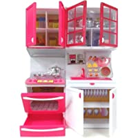 FunnyTool Kitchen Play Set Toddler Pretend Play Kitchen Kit, Kitchen Play Set Toy for Girl Multi Color and Model