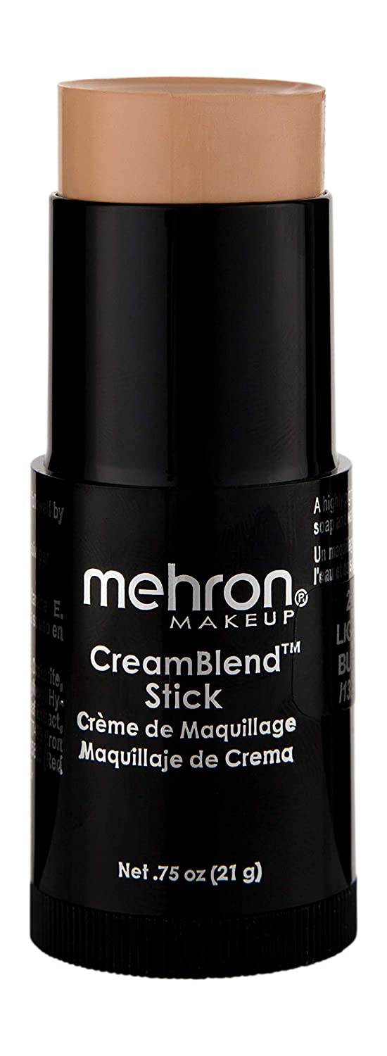 Mehron Makeup CreamBlend Stick (.75 oz) (REALLY BRIGHT RED) 400-RB