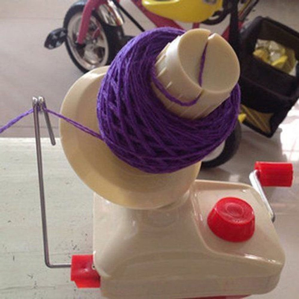 Mango Spot Portable Yarn Fiber String Ball Wool Winder Hand Operated Holder
