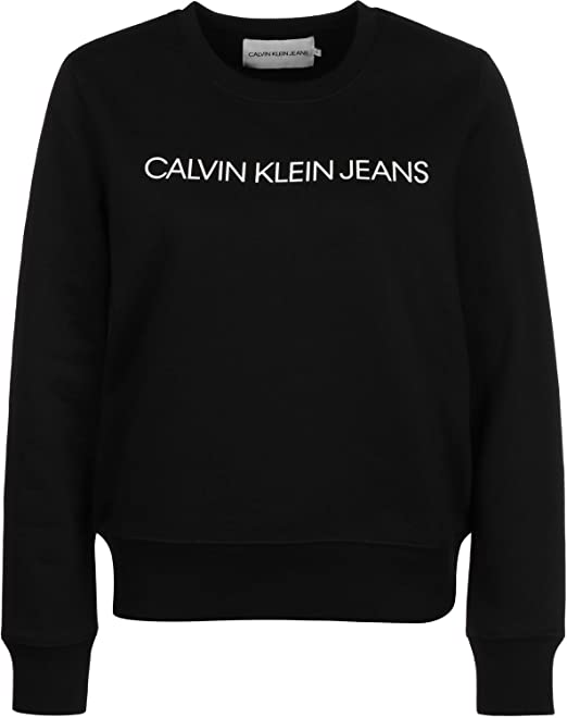 Calvin Klein Jeans Institutional Regular W Sudadera CK Black: Amazon.es: Ropa y accesorios