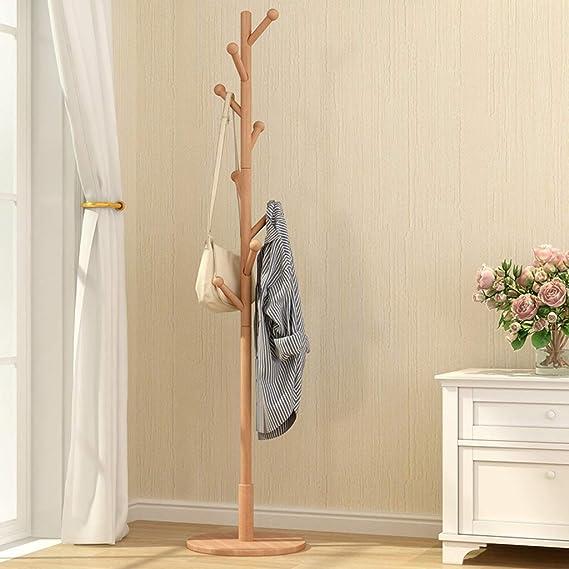 Amazon.com: A- Perchero de madera con 8 ganchos para colgar ...