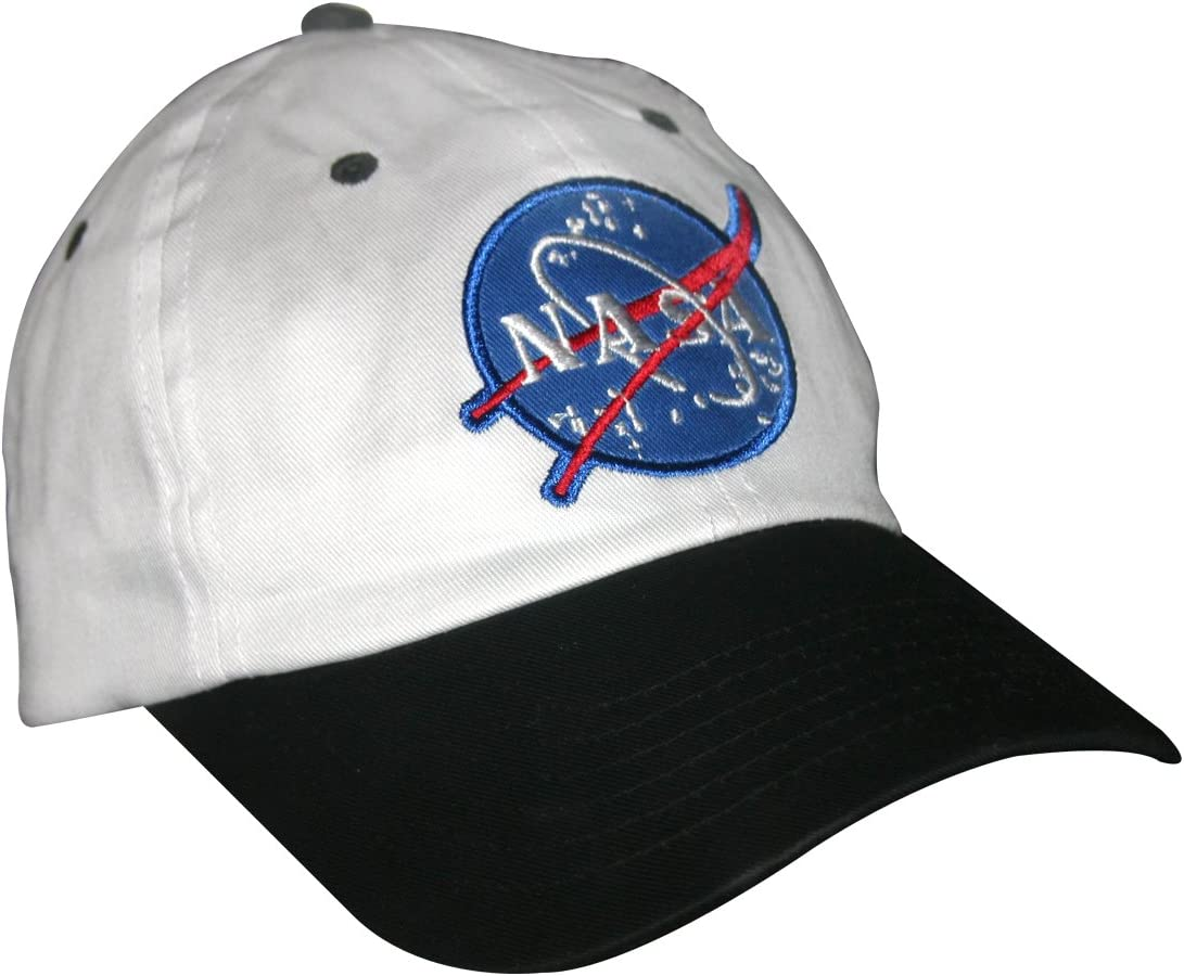 Adjustable Black NASA Insignia Embroidered Baseball Cap Astronaut Costume Hat