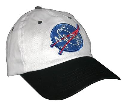 0b54362b5fb Amazon.com: Aeromax Jr. NASA Astronaut Cap, Adjustable Youth Size,  White/Black: Toys & Games