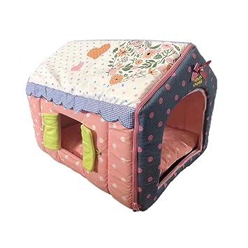 PLDDY Cat House, Cama para Perros Cachorros, 2 en 1 Nido y sofá para