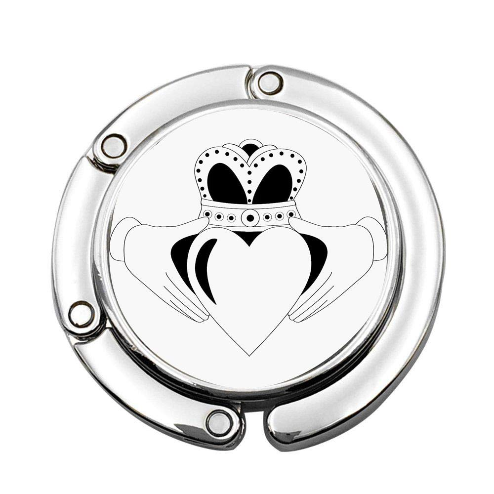 Red Design Arrow Heart Illustration Table Hook Folding Bag Desk Hanger Foldable Holder