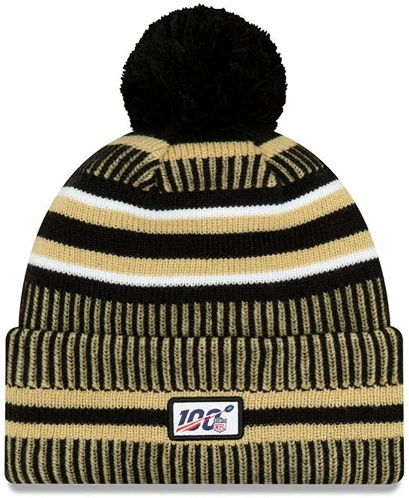New Era ONF19 Sport Knit M/ütze New Orleans Saints Schwarz