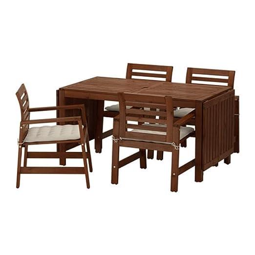 Ikea Applaro 591.569.90 - Mesa y 4 sillones para Exterior ...