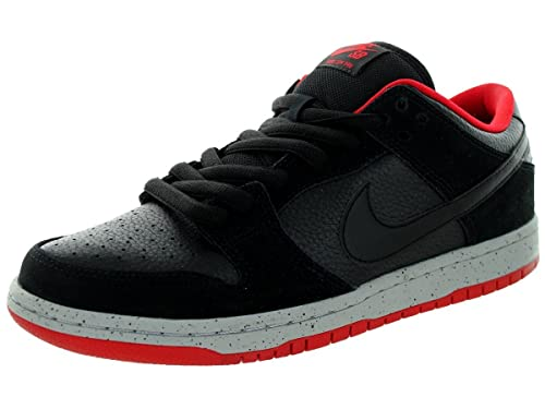 new style 80184 fa907 Nike Men's Dunk Low Pro SB Black Cement Skateboarding Shoes ...