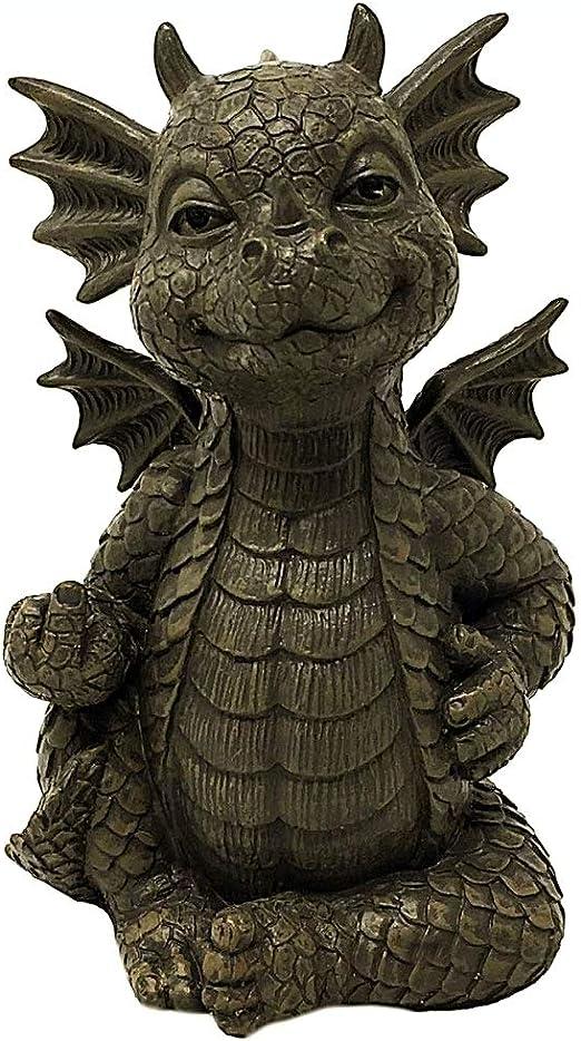 MystiCalls - Figura Decorativa para jardín, diseño de dragón: Amazon.es: Jardín