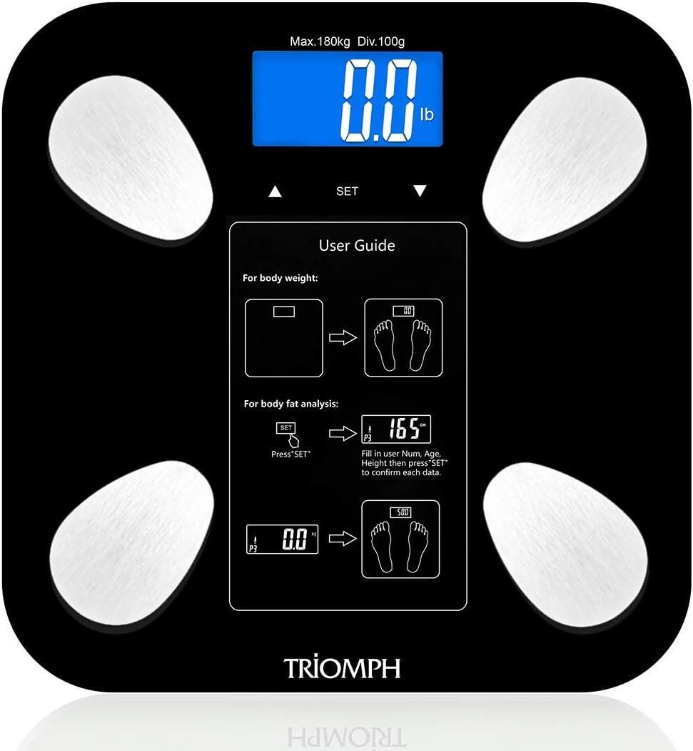 Amazon.com: Triomph - Báscula digital de grasa corporal ...