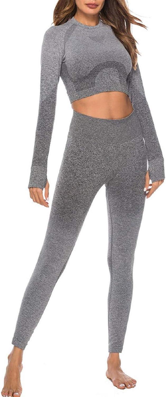 Women 2 Piece Outfits Crop Top Long Pants Leggings Yoga Set Tracksuits High Waist Pants Set Casual Tracksuit