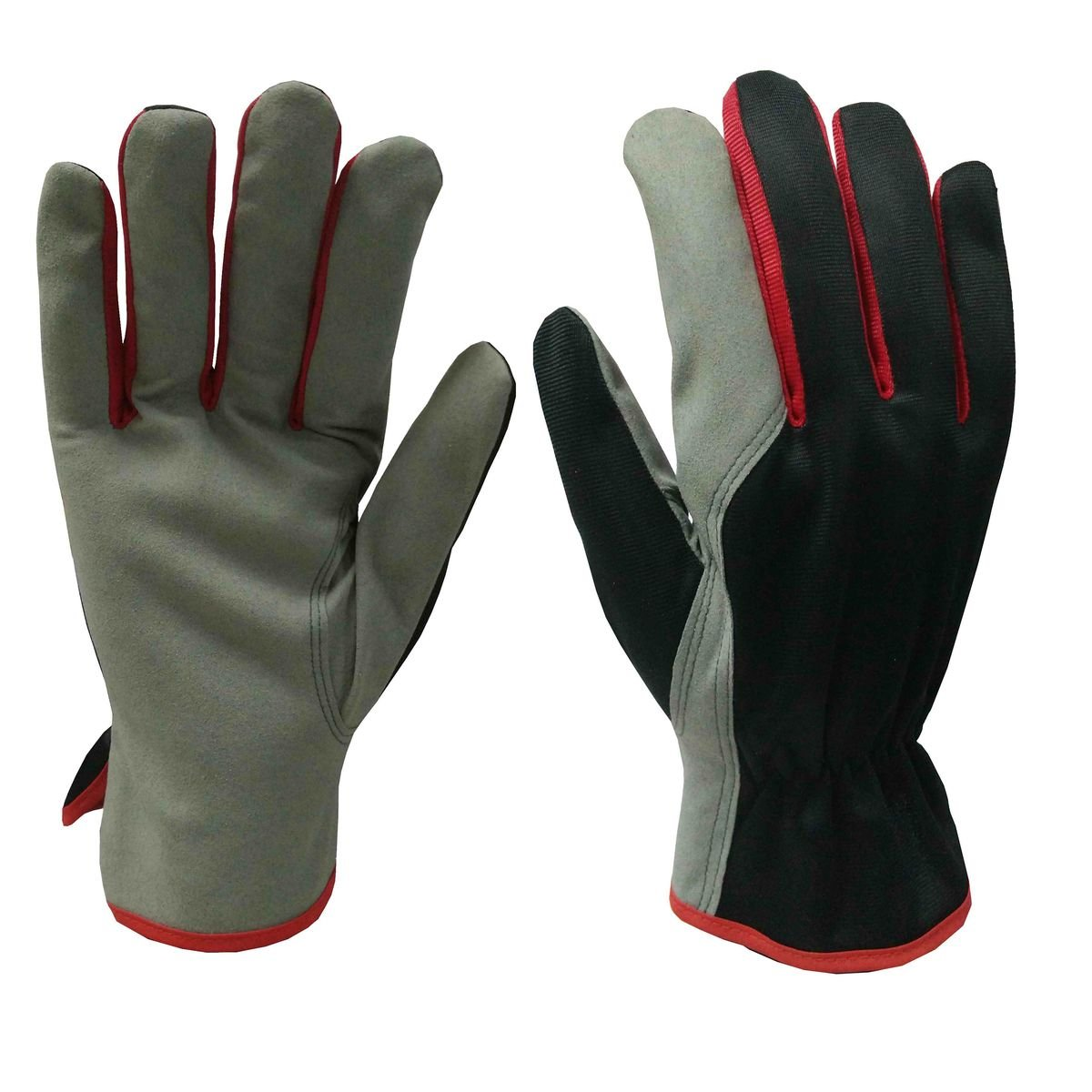 Xclou Rigger Gloves XL - Abrasion and Puncture Resistant Garden Gloves for Men and Women - Durable Working Gloves in Red and Black 126922