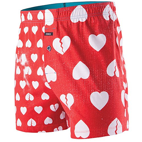 Stance Men's Faded Hearts Boxer, Red, Small